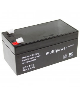 Multipower 12V 3.4Ah lead acid