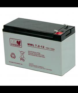MWPower Deep Cycle 12V 7.2Ah Lead battery
