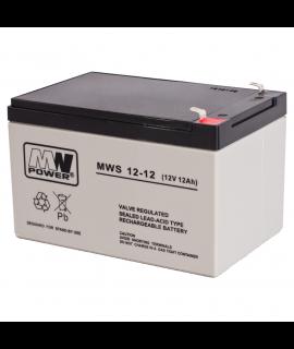 MWPower 12V 12Ah Lead battery (6.3mm)