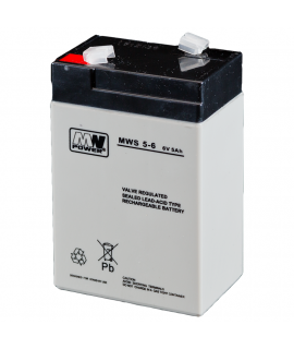 MWPower 6V 5Ah Lead battery