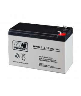 MWPower MWS 12V 7.2Ah Lead battery