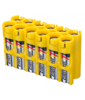 12 AAA Powerpax Battery case - Yellow