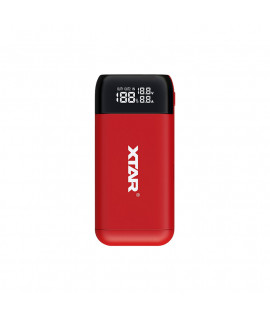 XTAR PB2S powerbank / battery charger - Red