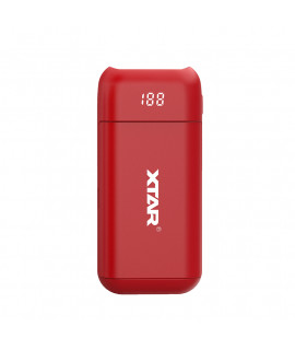 XTAR PB2 powerbank / battery charger - Red