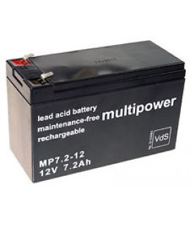 Multipower 12V 7.2Ah lead acid (4.8mm)